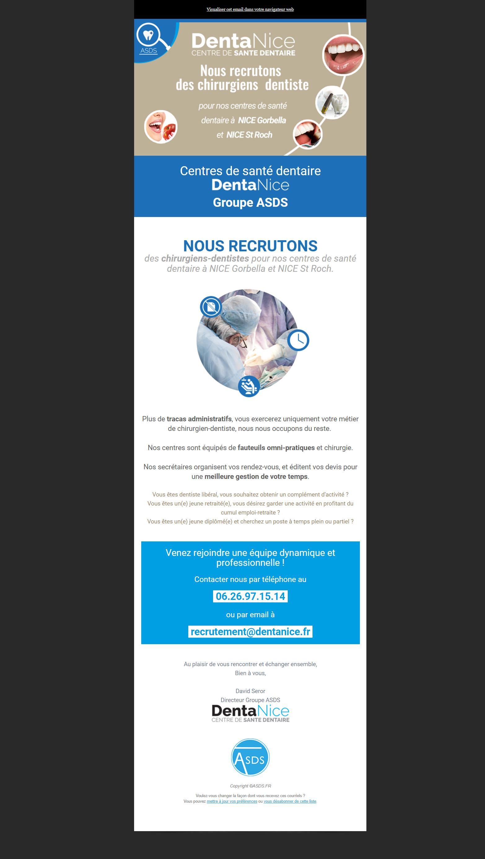eMailing / Newsletter sur mesure pour le Dr Roche